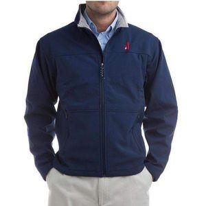 Johnnie-O Mens Navy Blue Soft Shell Jacket Small